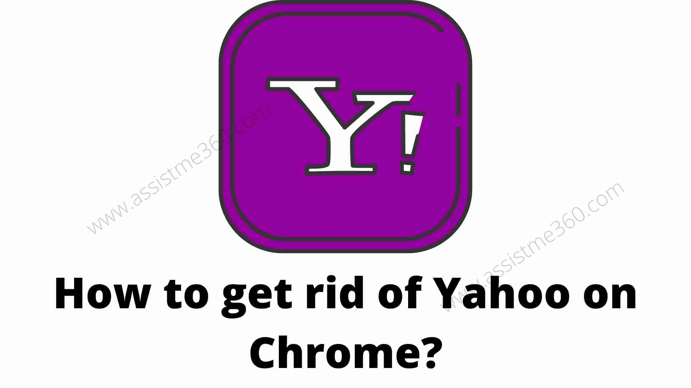 get rid of Yahoo search