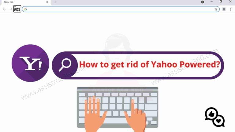 How to remove Yahoo powered