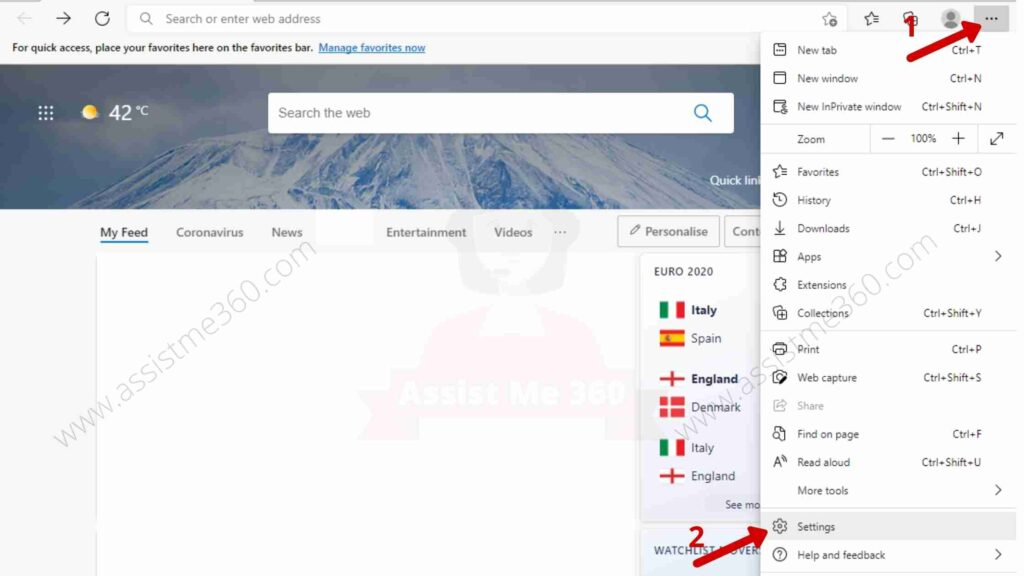 Steps to allow cookies on Microsoft edge (1)