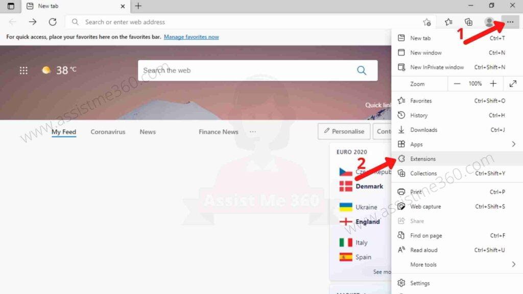 Steps to reset Microsoft edge settings (2)