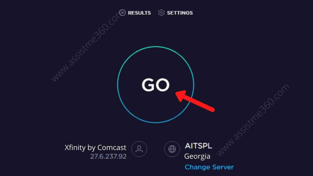 Steps to test internet speed from Ookla (3)