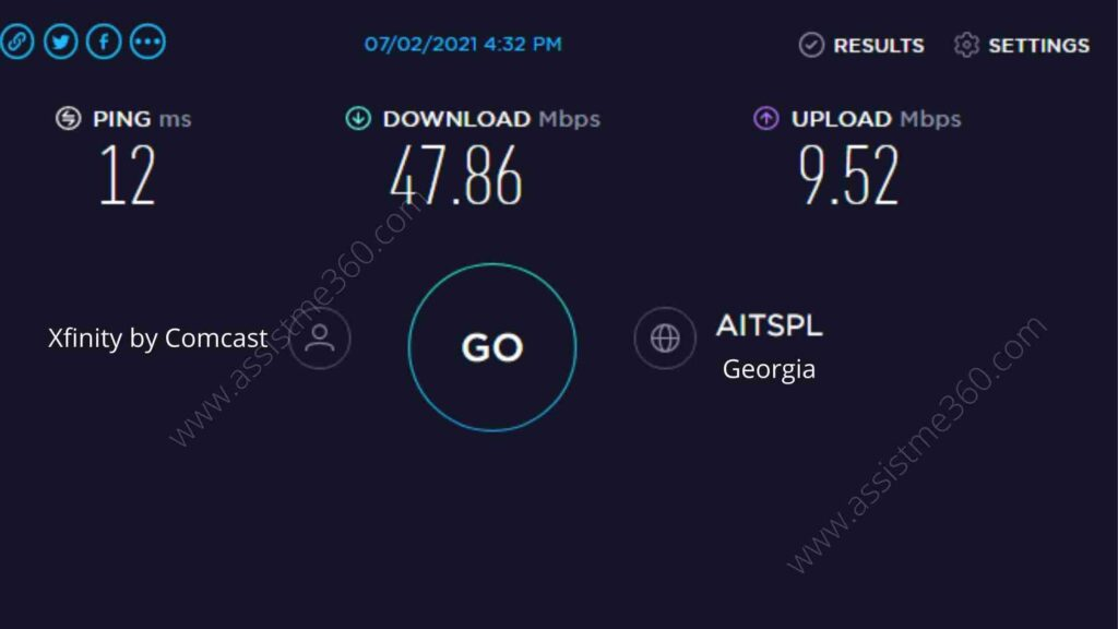Steps to test internet speed from Ookla (4)