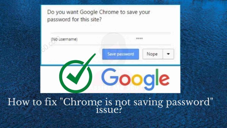 How to fix Chrome is not saving my passwords
