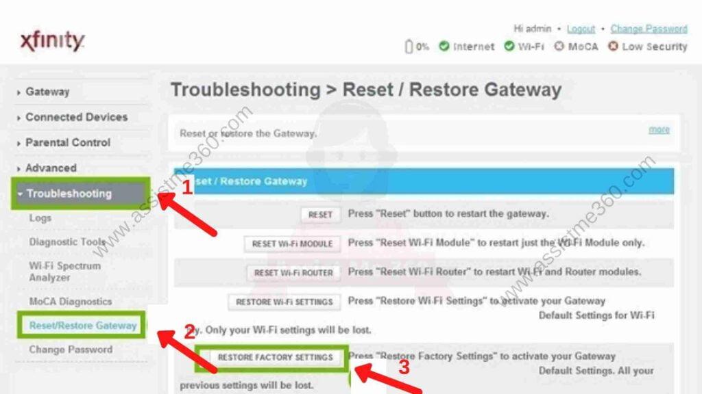 How to reset xfinity wifi (2)