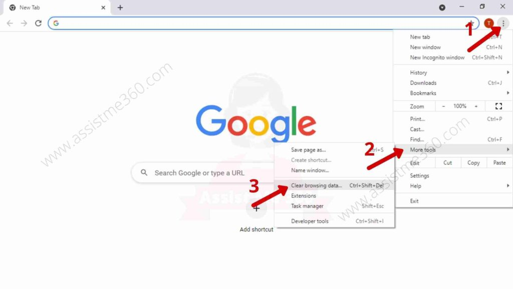 Steps to clear Cache data (1)