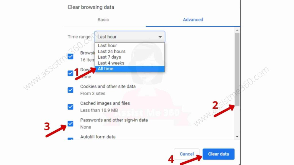 Steps to clear Cache data (3)