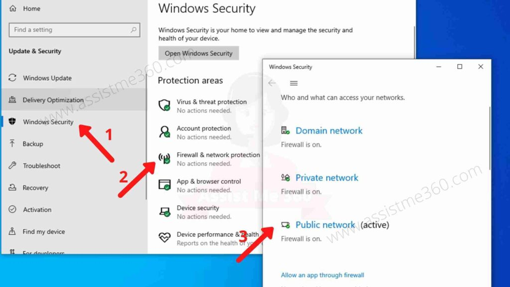 Steps to disable firewall on Windows 10 (3)