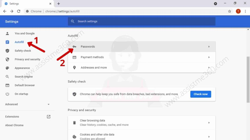 Steps to fix save password option on Chrome (1)
