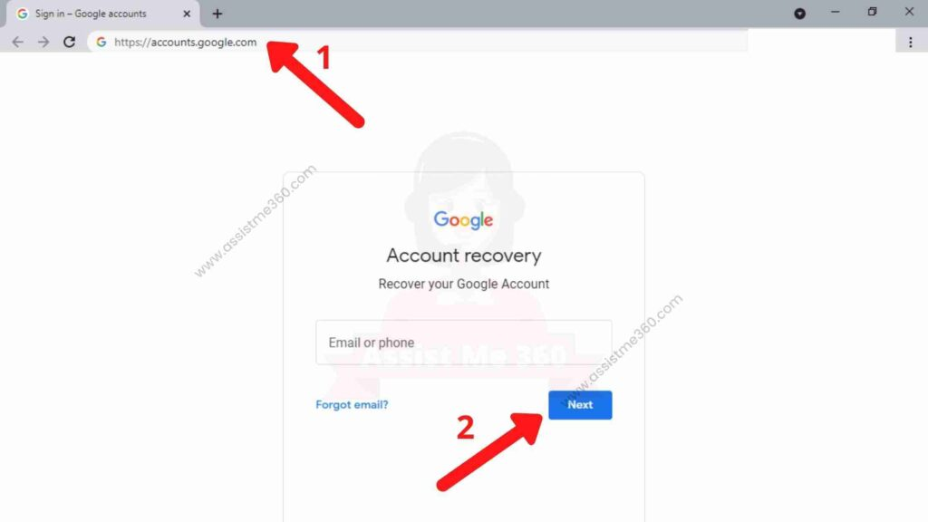 Steps to recover gmail account (3)