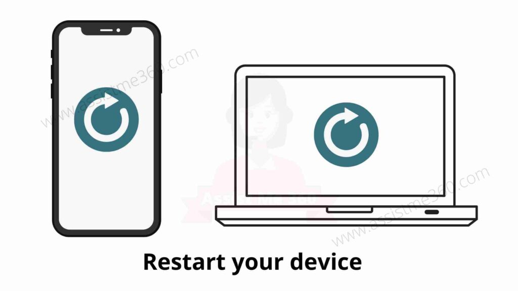 Steps to restart your device