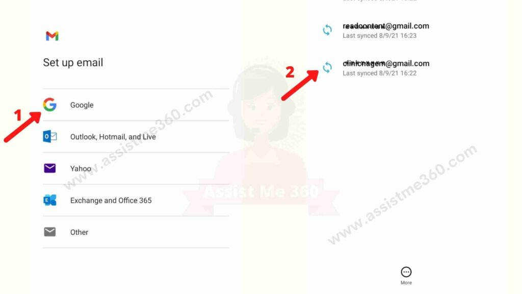 Steps to sign out gmail from android device (2)
