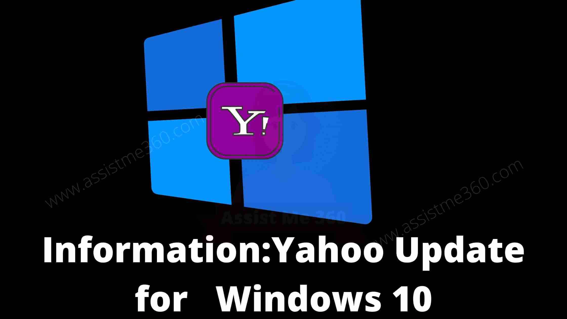 Yahoo Update for Windows 10