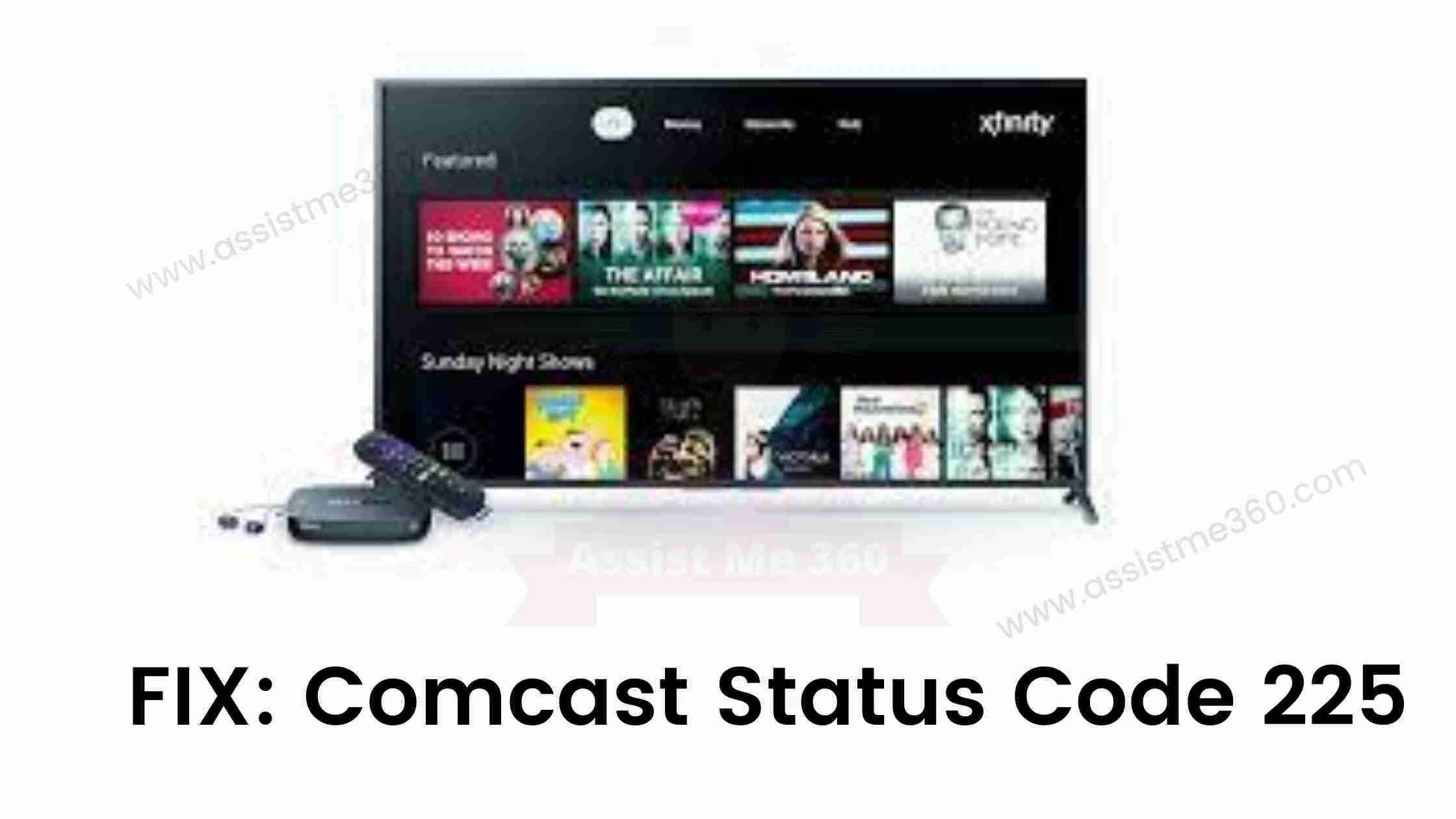 How to fix comcast status code 225