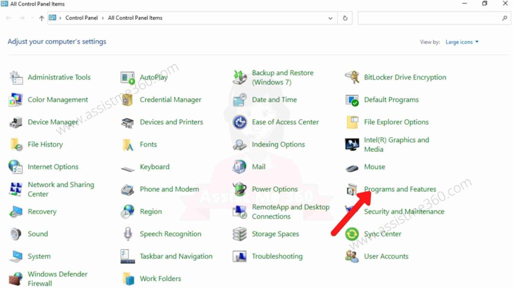 Use control panel to remove unwanted program (3)